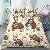 Before Coffee After Coffee - Sleeping Sloth Bedding Set