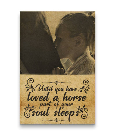 Not Loved A Horse - A Part Of Soul Sleeps Kissing A Horse Canvas Print