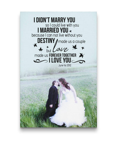 You Make Marriage Happy Destiny Love Couple Custom Canvas Print
