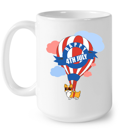 Corgi - Happy 4th July Mug