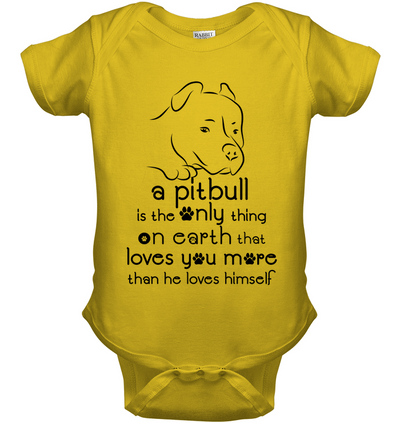A Pitbull Loves You More Than He Loves Himself T Shirt