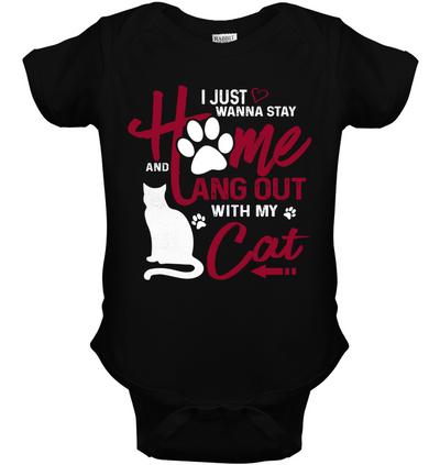 I Just Wanna Stay Home Cat T Shirt