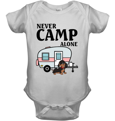 Never Camp Alone Dachshund T Shirt
