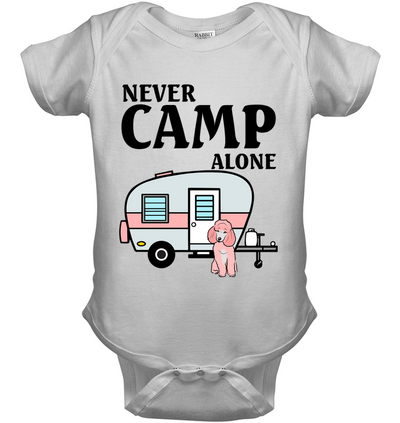 Never Camp Alone Poodle T Shirt