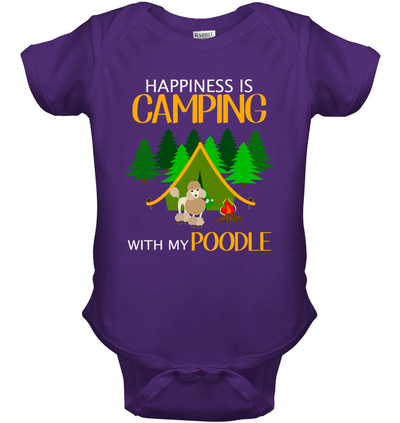 Happiness Is Camping With My Poodle T Shirt