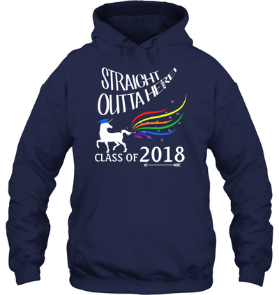 Straight Outta Here Class Of 2018 T Shirt
