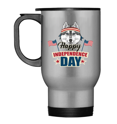 Husky Happy Independence Day Mug