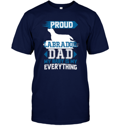 Proud Labrador Dad T Shirt