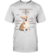 The Anatomy Of A Corgi T Shirt
