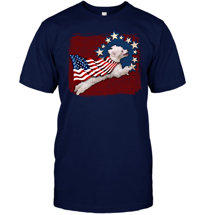 Independence Day Poodle T Shirt