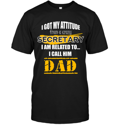 I Got My Attitude From A Crazy Secretary T Shirt