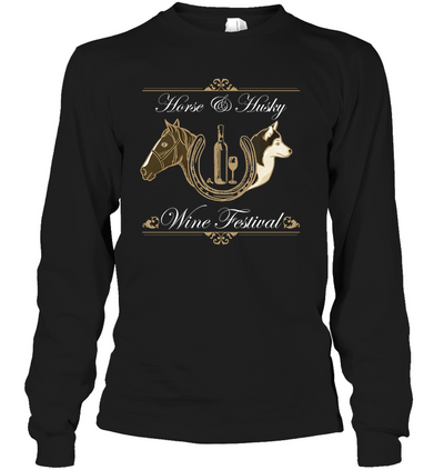 Horse And Husky - Wine Festival T Shirt