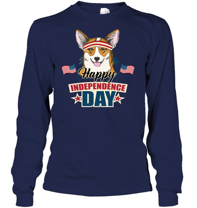 Corgi Happy Independence Day Ver 2 T Shirt