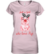 Just A Girl Who Loves Pigs T Shirt