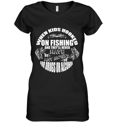 When Kids Hooked On Fishing T Shirt