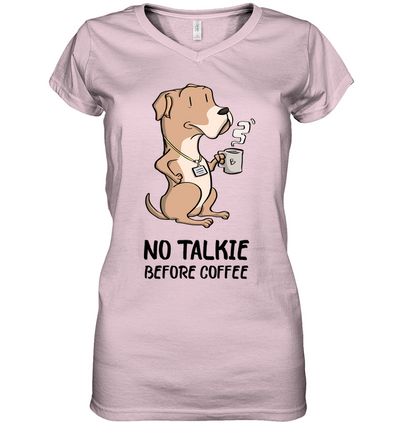 No Talkie Before Coffee Boxer T Shirt