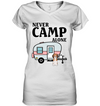Never Camp Alone Beagle T Shirt