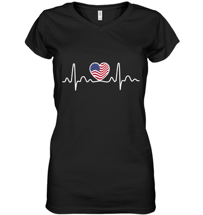 American Heartbeat Flag Day T Shirt