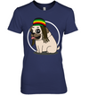 Reggae Shark Hairstyle Pug T Shirt
