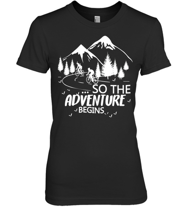 Cycling - So The Adventure Begins T Shirt