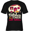 Bitches And Their Corgis With Hitches Camping T Shirt