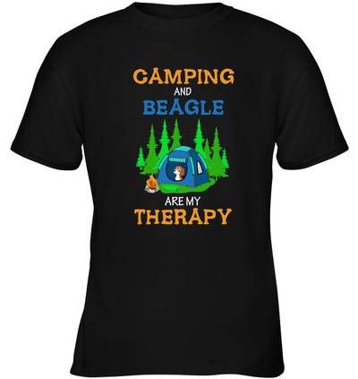 Camping And Beagle Are My Therapy T Shirt