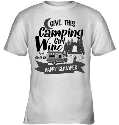 Camping - Happy Glamper T Shirt