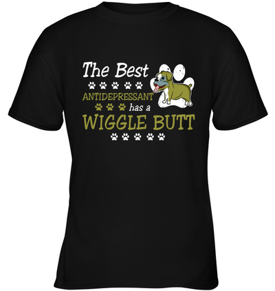 Boxer - The Best Antidepressant Has A Wiggle Butt T Shirt