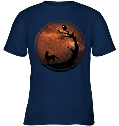 An Owl And A Dog At Night T Shirt
