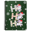 Ho Ho Ho Unicorn With Led In Snow Spiral Bound Notebooks