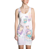 Sweet Dream Cute Owl Family All Over Printed Dress
