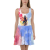 Horse Walking Colorful Watercolor Painting Skater Dress