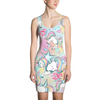 Unicorn Flowers Hearts And Stars Pattern All Over Dress