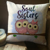 Soul Sisters Owl Pillow Cover