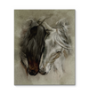 Horse Head Drawing Love Together Horse More Canvas Print