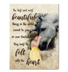 Girl And Horse - Little Girl Embrace Horse More Canvas Print