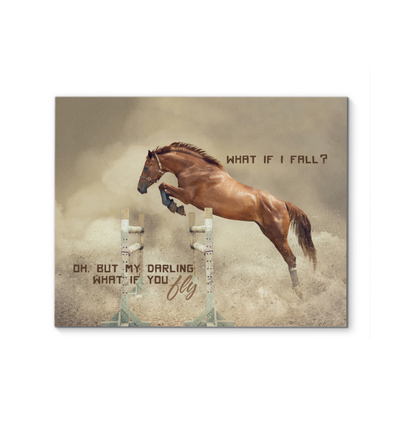 What If I Fall Horse Canvas Print