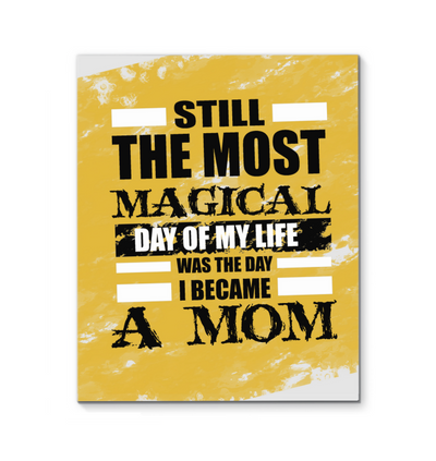 The Day I Became A Mom Canvas Print