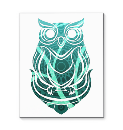 Beautiful Tribal Owl Canvas Print Ver 2