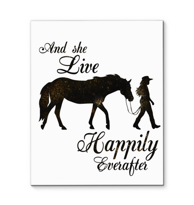 Horse And She Lived Happily Ever After Canvas Print