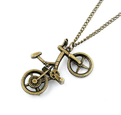 Bike Pendant Necklace