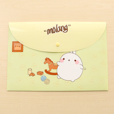 School Supplies Cartoon Folders Office Student