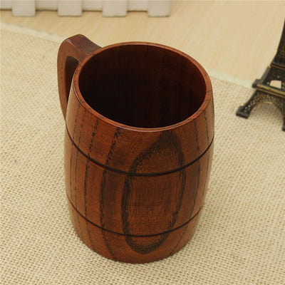 400ml Classical Wooden Beer Tea Coffee Cup Mug Water Bottle Heatproof
