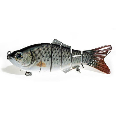 New Bait Big Fishing Lure 6 Segment Swimbait Handled