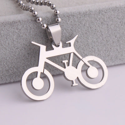 Bicycle Stainless Steel Pendant Necklace