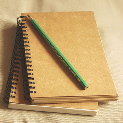 Vintage A5 Paper Notebook Spiral Daily Handmade Journal Sketch Handled