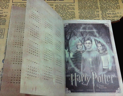 Vintage Harry Potter Notebook Diary With Calendar Retro Planner