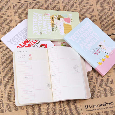 Cute Notebook Red Hat Girl Agenda Week Plan Diary Day Planner