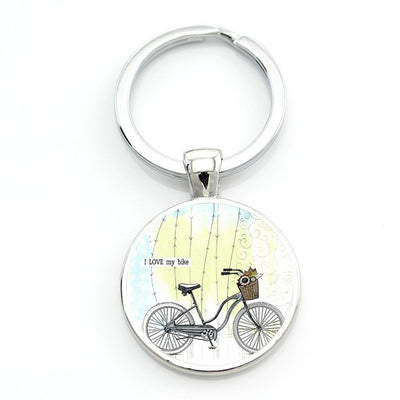 Brand Keep Calm And Love Cycling Keychain