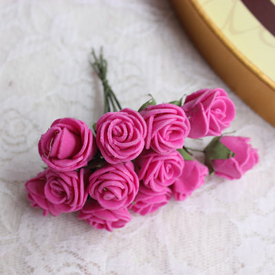Rose Artificial Flowers Joyful Box Gift Hair Hoop Wreath Accessories